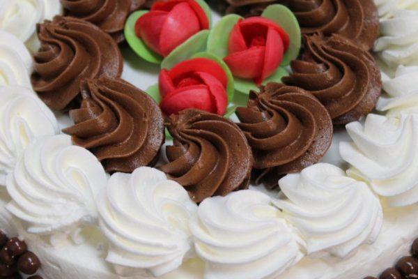 Torta panna e cioccolato
